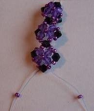 How to braid a braided bead bracelet. Bracelet 3 - Step 1