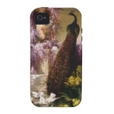 Vintage Peacock Case-Mate iPhone 4 Cover