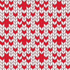 Scandinavian Hand Knit - Red White 1 fabric by paulap on Spoonflower - custom fabric