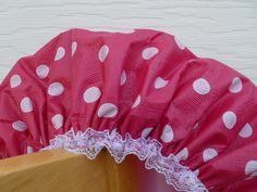 Waterproof Shower Cap Red White Polka Dots by GiftCreation on Etsy, $18.50