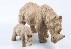 Rhino hessian animals - 9468