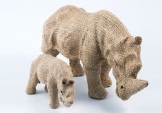 Rhino hessian animals - 9468