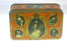 22346 Old Vintage Antique Tin Box Queen 1923 Koningin Wilhelmina Oude blikje      eBay!
