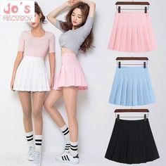 4469884f625 2018 New Spring high waist ball pleated skirts. Denim Skirts