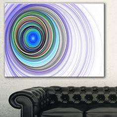 Designart 'Endless Tunnel Ripples' Abstract Digital Art Canvas Print