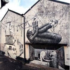Phlegm, Run, great street art, urban artists, street artists, amazing urban art…