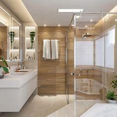 Laundry Room Bathroom, Bathroom Plants, Bathroom Kids, Modern Master Bathroom, Simple Bathroom, Bad Inspiration, Bathroom Inspiration, Bathroom Pictures, Bathroom Interior Design