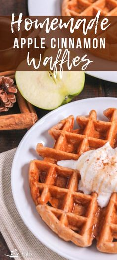 Could You Eat Pizza With Sort Two Diabetic Issues? Apples And Cinnamon Are The Perfect Flavorings For These Homemade Apple Cinnamon Waffles. Warmth, Comfort And So Much Yum The Whole Family Will Enjoy These Breakfast And Brunch, Best Breakfast Recipes, Breakfast Waffles, Breakfast Croissant, Morning Breakfast, Breakfast Ideas, Turkish Breakfast, Mexican Breakfast, Pancakes And Waffles