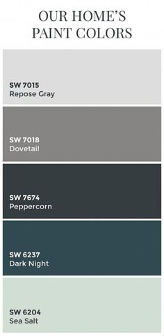 Interior Design Ideastransitional Home Color Scheme Sherwin Williams Sw7015 Repose Gray Sw7018