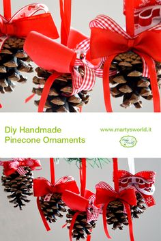 #Christmas #diy #handmade #craft #pinecone #ornaments