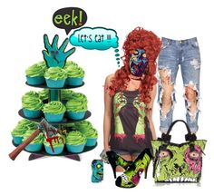 """""""zombie cupcake"""" by donna-france-davis ❤ liked on Polyvore featuring One Teaspoon and Iron Fist"""