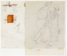 Francis Alys, Untitled (study for The modern procession, and Girl with skeleton) 2001 on ArtStack #francis-alys #art