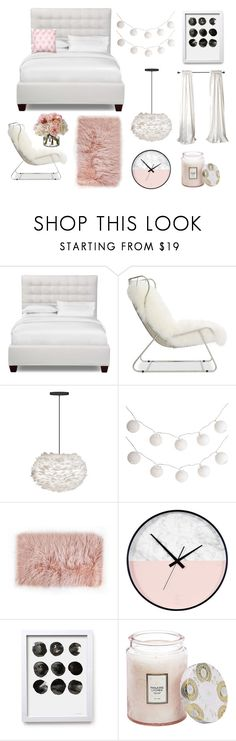 """sweet dreams - pomysły na sypialnie_ w bieli i pudrowym różu"" by sweetlittlebunny on Polyvore featuring interior, interiors, interior design, dom, home decor, interior decorating, Mitchell Gold + Bob Williams, Pier 1 Imports, Voluspa i Diane James"