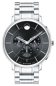 Movado Chronograph Bracelet Watch, 42mm available at #Nordstrom