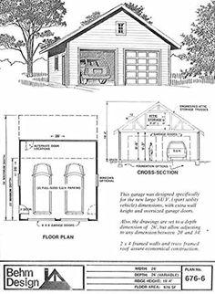 Oversized 2 Car Garage Plan 900-2 30' x 30' by Behm Design