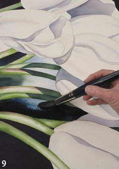 Painting Flowers Step by Step: White Tulips Watercolor Demonstration at Artist's Network