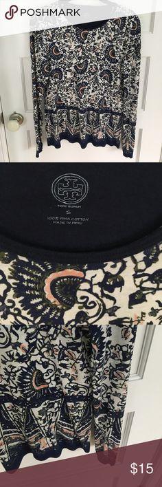 Tory Burch T shirt size small Pima cotton T shirt - lightweight Tory Burch Tops Tees - Long Sleeve