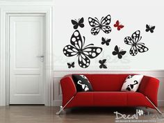 Butterfly Wall Stickers - Butterflies Wall Decal - Butterflies Stickers - Vinyl Wall Stickers - Nursery Wall Decals