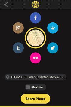 Maite // hacemos la foto y la aplicación nos permite enviarla y compartirla en las redes sociales (twitter, Facebook, tumbrl, instagram, flickr...)