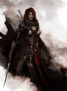 fantasy version of Black widow from the avengers