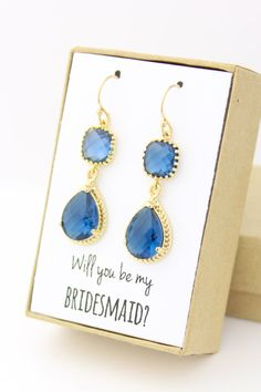 Hey, I found this really awesome Etsy listing at https://www.etsy.com/listing/218215652/will-you-be-my-bridesmaid-navy-blue-gold