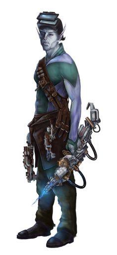 Winterborn Ryphorian Mechanic - Starfinder RPG (Alien Archive art)