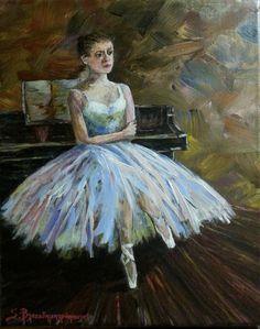 Ballerina,  Acrylics on canvas