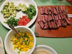 [Homemade] Taco night with mango salsa and steak