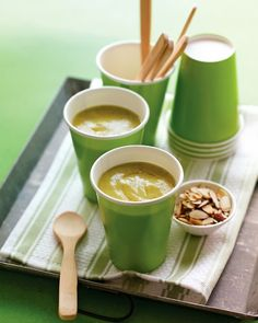 Curried Zucchini Soup (hot or cold) - via Martha Stewart. (Confirming my conviction that curried veggie soups are always yummy cold!)