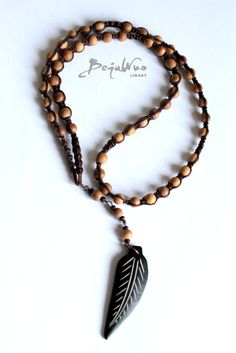 Ethnic Wooden Necklace, Beaded Necklace, Mens Tribal Necklace , For Him on Etsy, $25.00