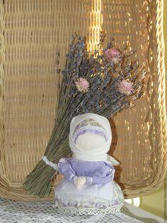 Купить Куколка народная лаванда саше - народные куклы, травница, обереги, ароматизированная игрушка, ароматерапия