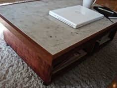 Building Instructions for Concrete Coffee Table for sale on etsy