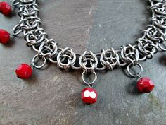 Chainmaille Choker Necklace Celtic Visions in by Lunachick on Etsy