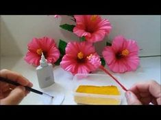 Hello everyone, here is my new video for DIY Summer Bracelets. Crepe Paper Flowers, Diy Flowers, Fabric Flowers, Diy Paper, Paper Crafts, Ribbon Crafts, Summer Diy, Clay Charms, Flower Making