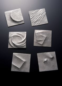 by Hiromi Kuwahara, brooches 2009 Jewelry Tools, Clay Jewelry, Metal Jewelry, Jewelry Art, Silver Jewelry, Jewelry Making, Silver Ring, High Jewelry, Silver Earrings