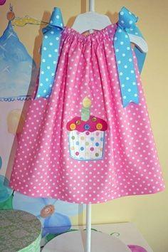 First 1st  2nd Birthday Pillowcase Dress 12 by pinkprincesscouture, $35.00