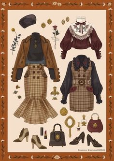 Remarkable retro fashion tips on our site gallery right here Vintage Fashion Sketches, Fashion Design Drawings, Anime Outfits, Cute Outfits, Kleidung Design, Vintage Outfits, Clothing Sketches, Look Retro, Retro Mode