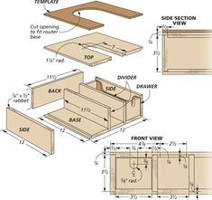 router stand woodsmith tips router table and jigs Router Jig, Wood Router, Router Table, Workshop Storage, Diy Workshop, Tool Storage, Diy Projects Garage, Wood Projects, Woodworking Projects