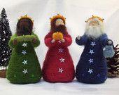 Christmas Wreath Fairy - Needle Felted Holiday Decoration - Waldorf Style. $28.00, via Etsy.