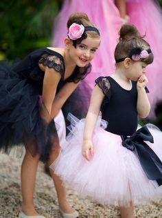 Parisan Chic Ballerina Ballet Pink Black Girl Party Planning Ideas