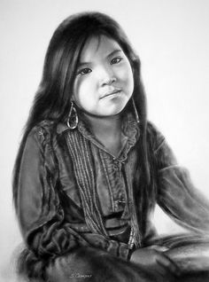 * Little Navajo ~ Drawn (with permission) from the photography of Emmanuelle Crane ~ Artist by: steeelll *