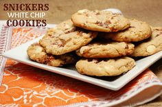 {A Kitchen Addiction} Snickers White Chip Cookies