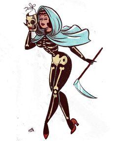 Ocean Life Tattoos, Nature Tattoos, Vintage Witch, Vintage Halloween, Halloween Labels, Halloween Witches, Halloween Stuff, Halloween Halloween, Halloween Pumpkins