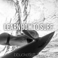 Yesss! This is on my list for next summer. I tried surfing for the first time last year and had a lot of fun even though I kept falling. Would like to be able to completely ride a wave by the end of next year.