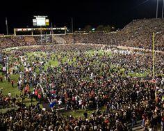 Texas Tech Football Stadium Photos | texas-tech-university-football-2008-season-texas-tech-fans-storm-field ...