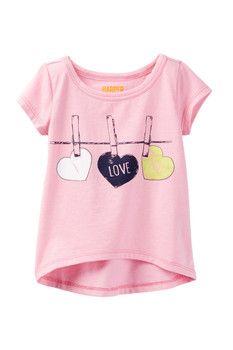 Graphic Tee (Baby Girls) by Harper Canyon on Shirt Print Design, Shirt Designs, Baby Kids Wear, Kids Girls, Baby Girls, Toddler Girls, T Shirt Painting, Girl Dress Patterns, Girls Blouse