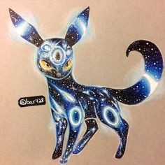Galaxy shiny umbreon #drawing #umbreon #pokemon #prismacolor #coloredpencil #illustration by bar428