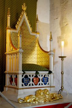 Throne of Henry VI of England. He died May 21, 1491. at the Tower of London Castle