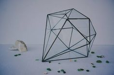 Geometric terrarium glass vase wedding decor diamond