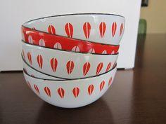 My Cathrineholm bowls - The Hairy Peach